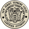 New Jersey Supreme court Certified attorney | seal of the supreme court of new jersey